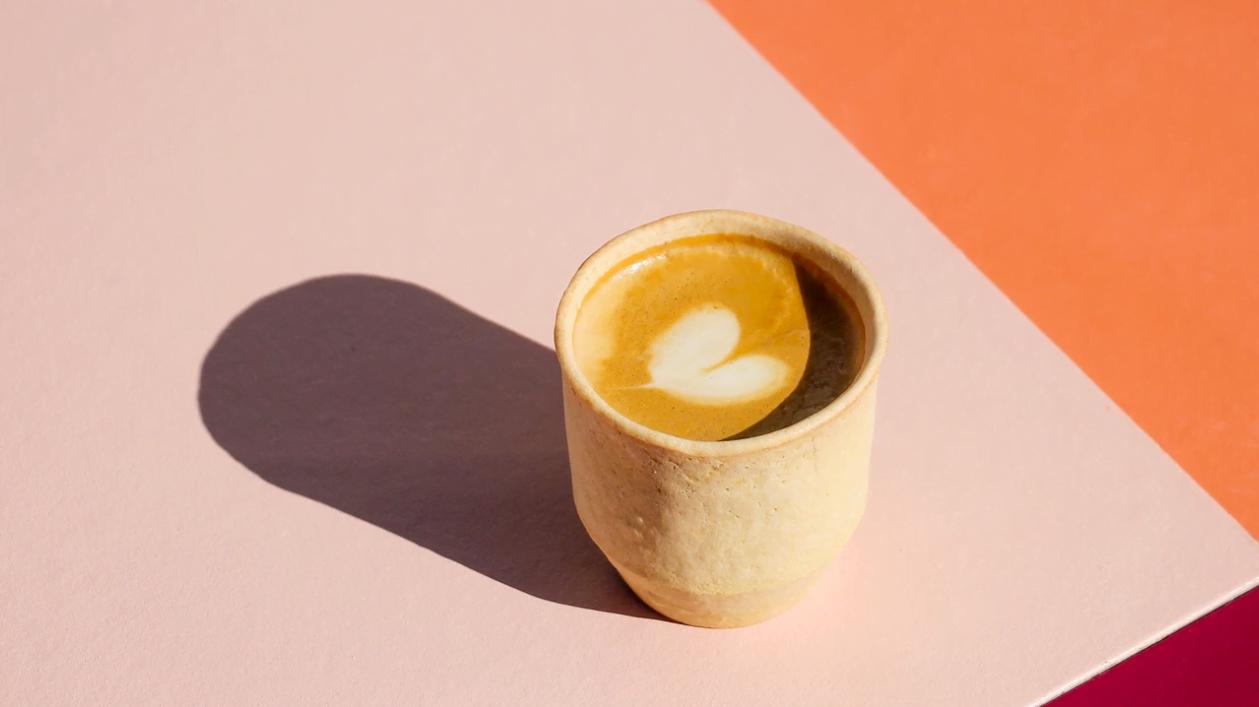 eetbare koffiebeker