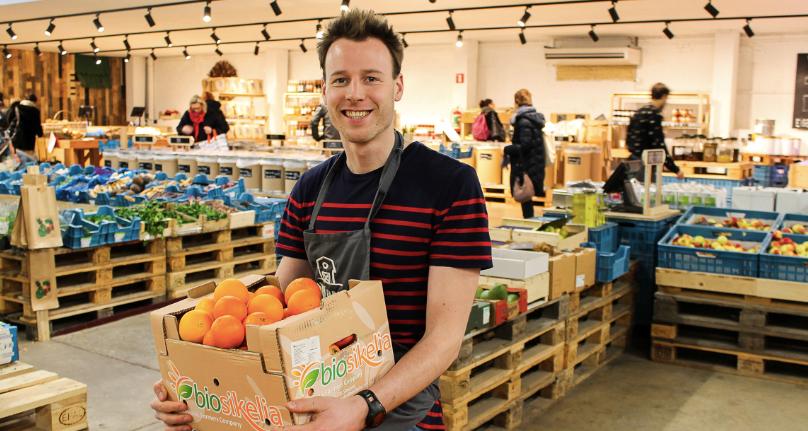 In deze supermarkt koop je alleen biologische producten, voor minder geld