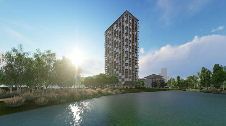 Ook Antwerpen krijgt houten wolkenkrabber