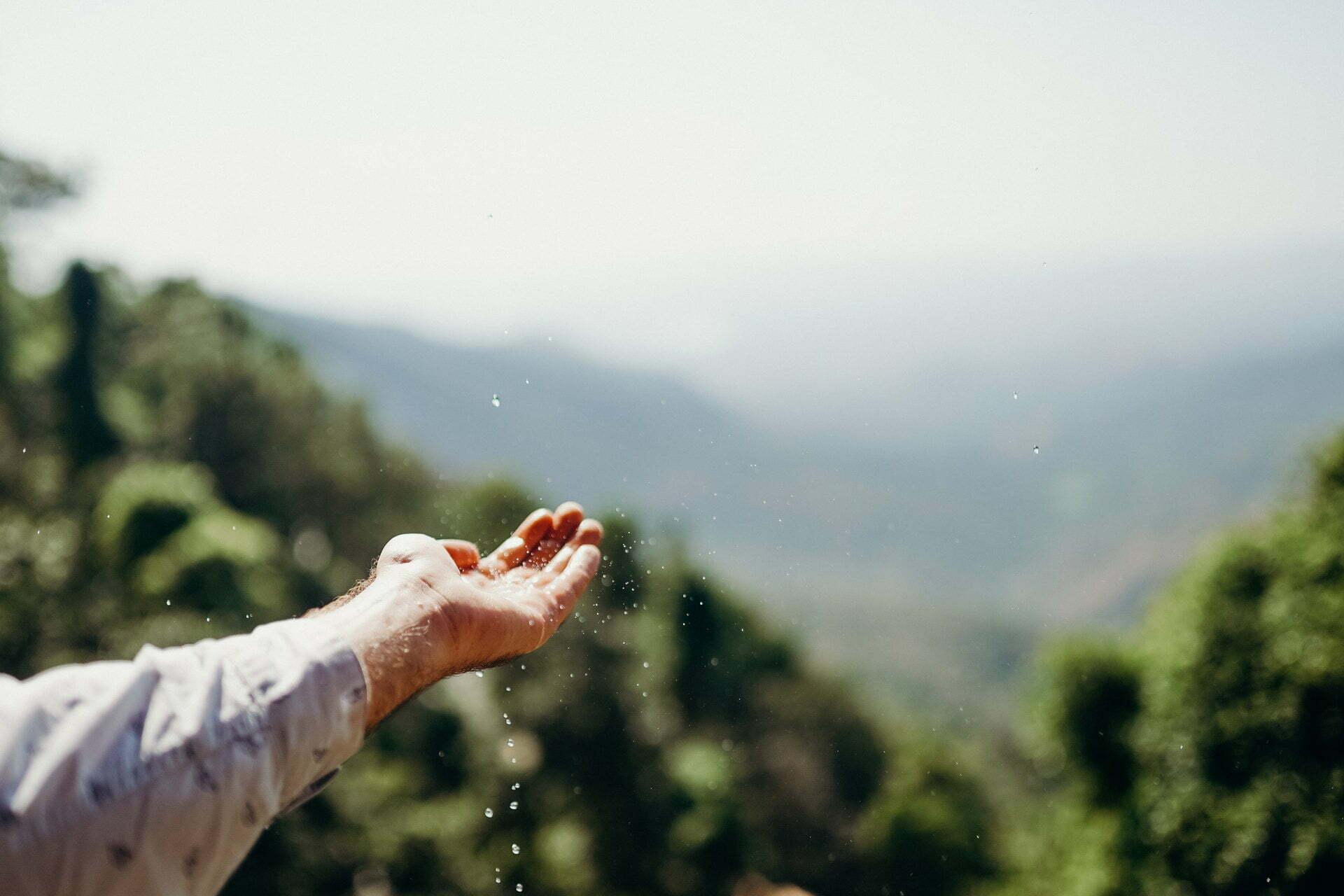 dorp van water voorzien