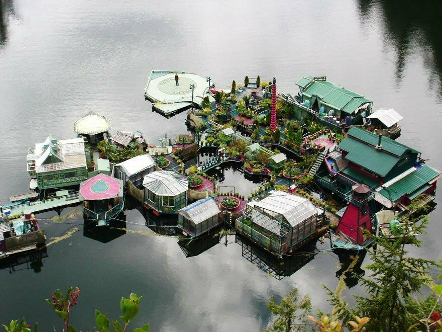 zelfgemaakt eiland