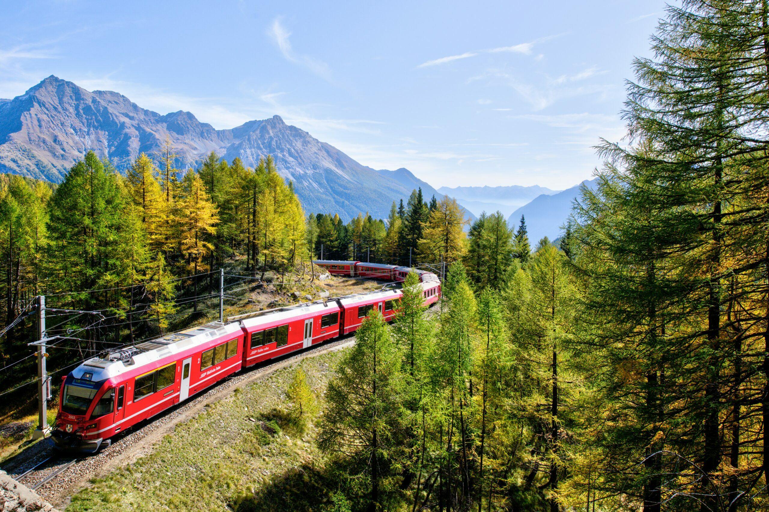met de trein door Europa