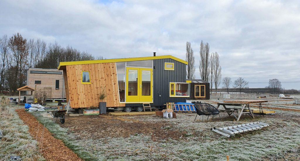 zelfgebouwde tiny house