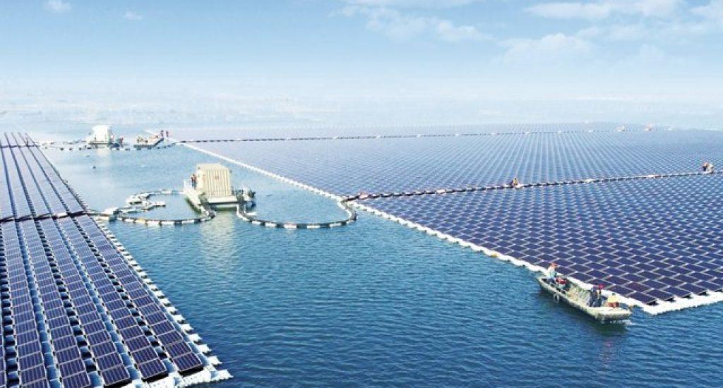 Drijvend zonnepark in China