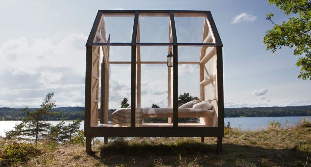 glazen tiny house