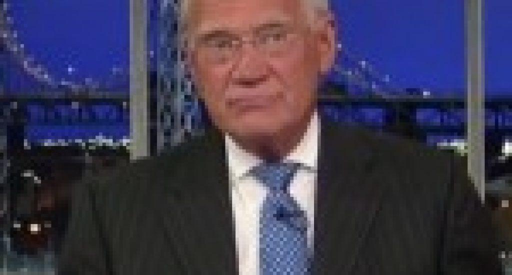 David Letterman schaliegas. Foto: still uit youtube video