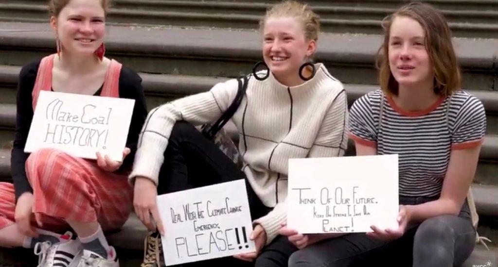 jongeren staken voor het klimaat