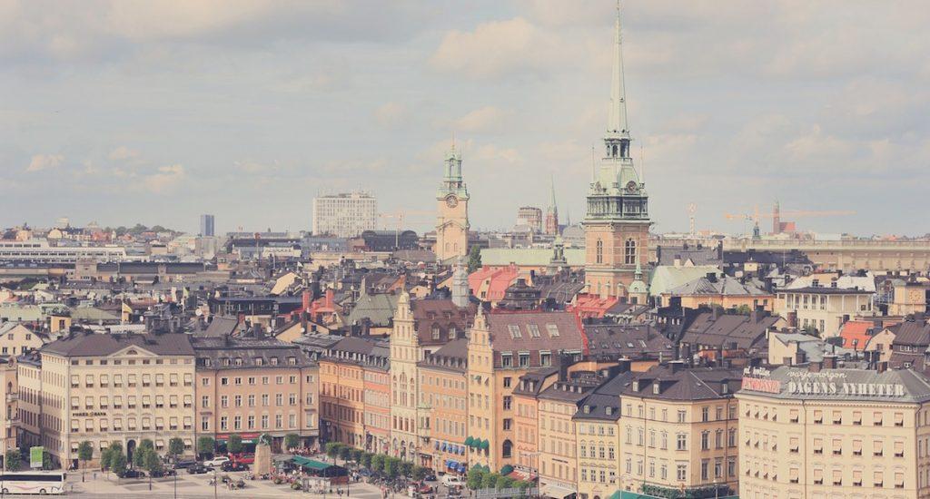 Afbeelding: Stockholm, Zweden (afval recyclen)
