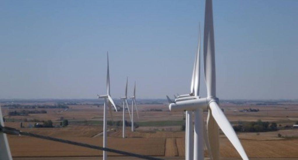 Windmolens in de VS. Foto: Mid American
